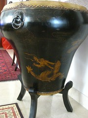 Chinese drum on stand