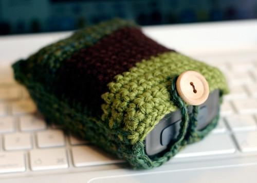 crochet camera cozy