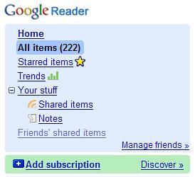 Google Reader - Discover