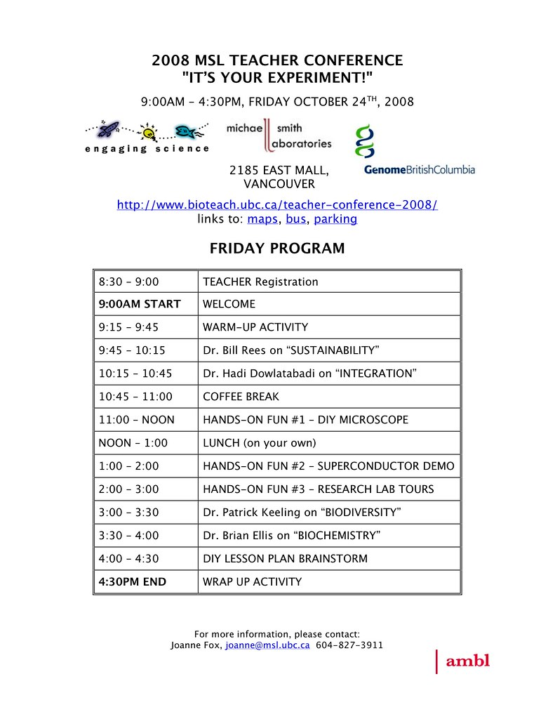 2008-MSL-TEACHER-CONFERENCE-PROGRAM