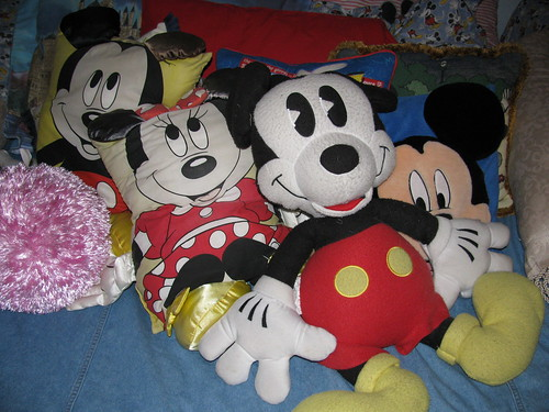 Mickey on the Bed