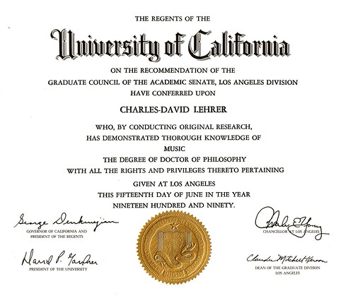 Chick's Ph.d. degree from UCLA