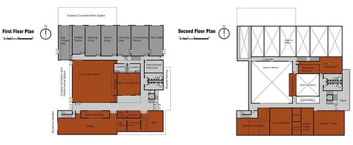 Concept Floor Plans, Mt View Art Center, by RIM Architects