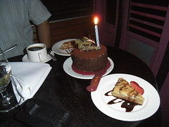 Dessert & my birthday cake!