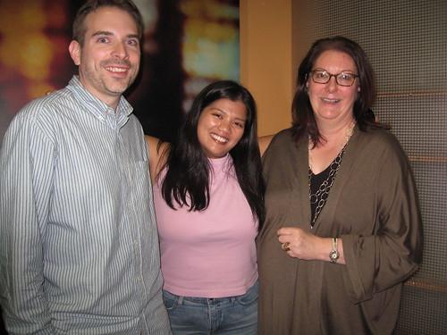 Mike Schneider, Darleene Powells and Kate Coe