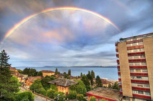 Rainbow over Serrières