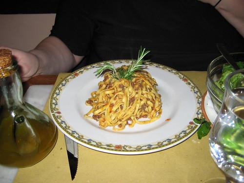 Tagliatele with bolognese sauce