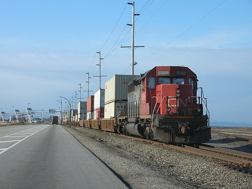 CN Double Stack container train at Roberts Bank October 5, 2008