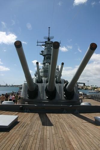 Guns on the USS Missouri