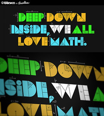 Deep Down Inside, We All Love Math T-Shirt Design