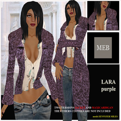 Lara cardigan purple