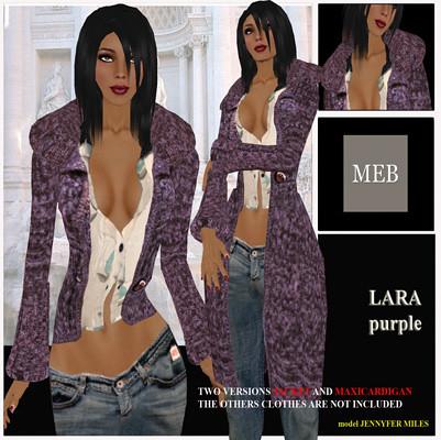 Lara cardigan purple