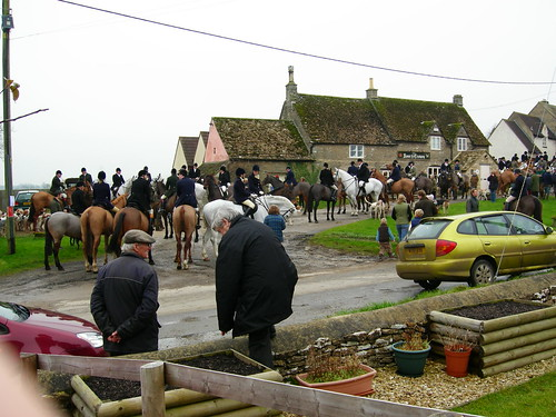 The hunt meet across the road from us