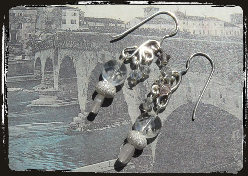 Orecchini cristallo di rocca - Rock crystal earrings ARHGQDI