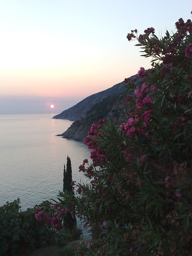 Sunset from Grigoriou Monastery #5