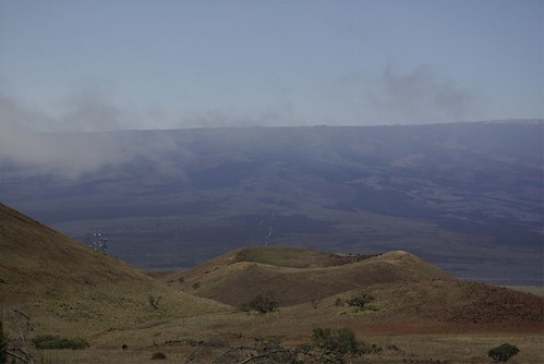 from the Mauna Kea access road