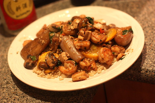 Shrimp and Eggplant with Miso Sauce by you.