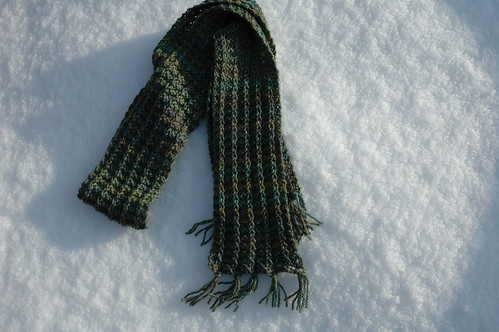 One Row (not) Handspun Scarf