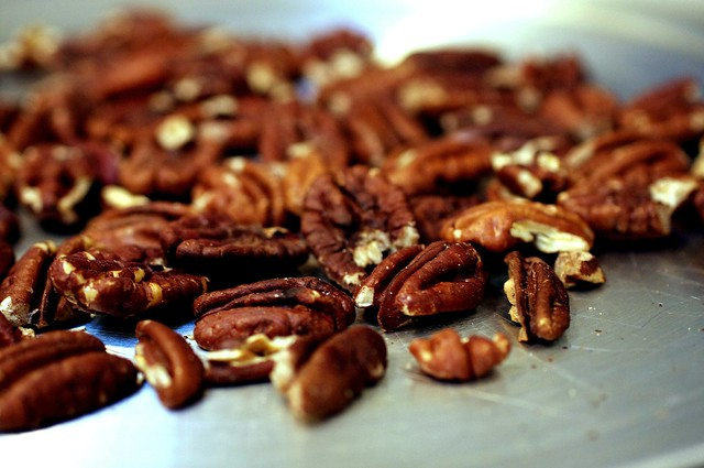dark, toasty pecans