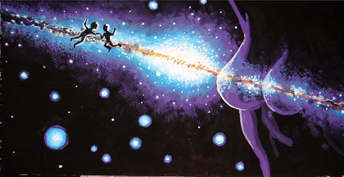 This is my tempera painting of the milky way