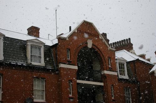 Snowed roofs