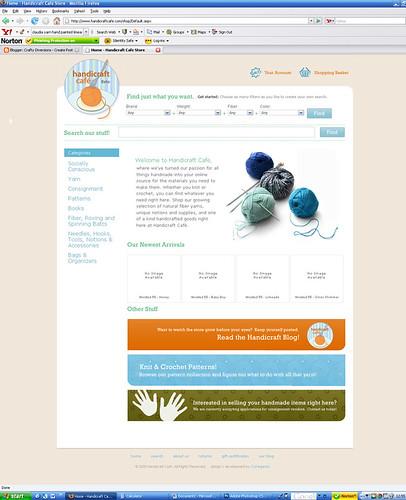 Homepage screenshot 7-9-08