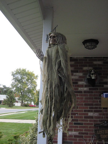 Ghoul on front porch