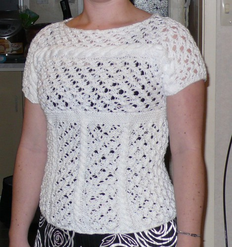 Finished Lace & Cable Top