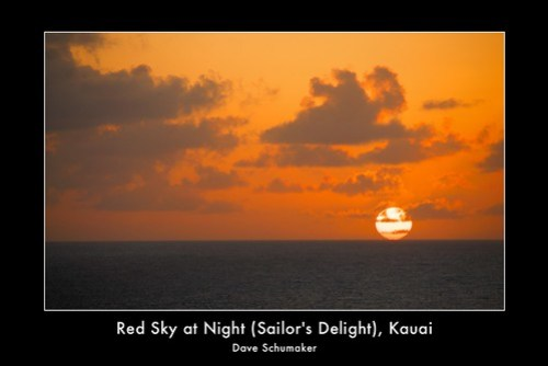 Red Sky at Night (Sailor's Delight)