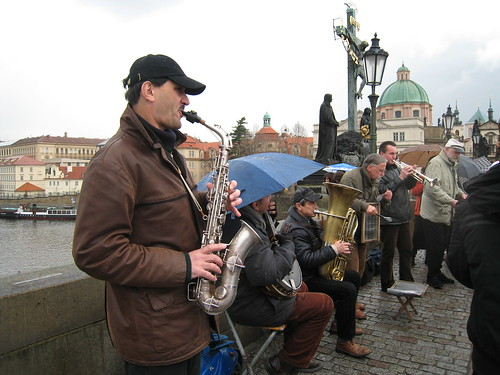 Music Players on Karlův most