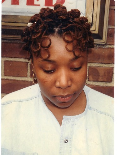 bantu knots with ringlets (locs)