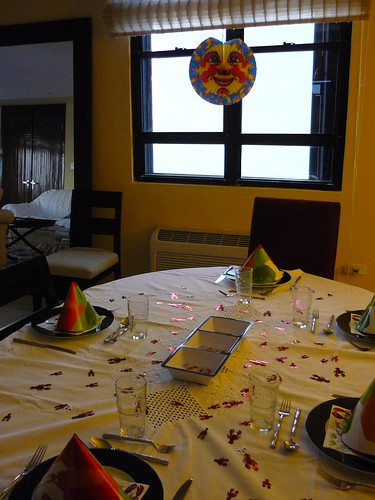 Table set for the crayfish party