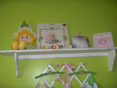 shelf and rack over changing table