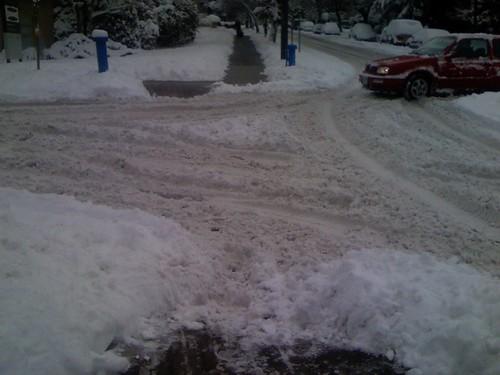 Sidewalks clearer than roads