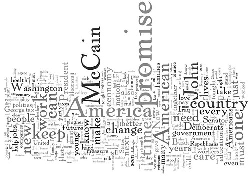Barack Obama speech word cloud
