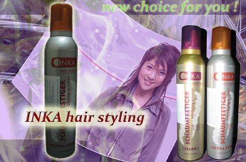 INKA keo bọt xịt tóc (mút)