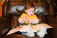 Charlie reads aloud