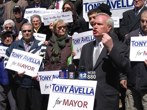 Councilman Tony Avellas Mayoral Announcement on the Steps of City Hall, March 2008.  Photo by tonyavella2009 via flickr
