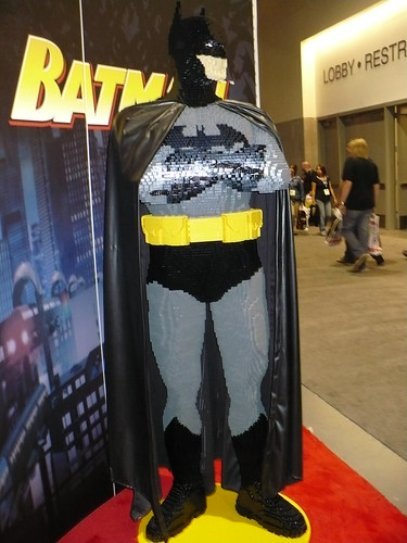 Lego Batman!  Bet he hits like a ton of bricks!