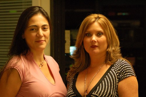 Diane Schnell and Maria Juliana Rivera, of New Orleans' Telemundo station