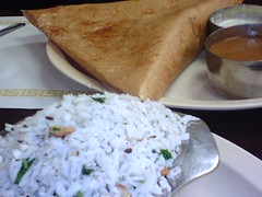 Dosa and Coconut Rice