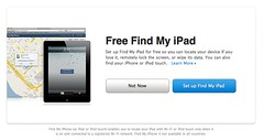 Find My  iPad の設定