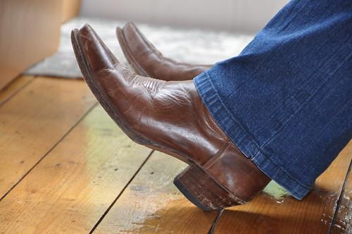 Caroline Lawrence's western boots