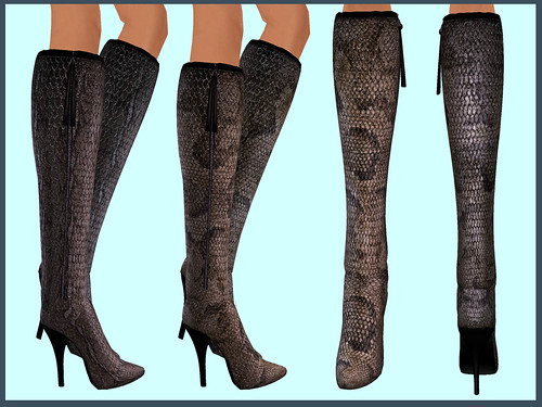 LYA Snakeskin boots