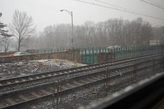 snow on the tracks