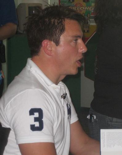 John Barrowman, signing