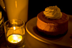 Pumpkin Cheesecake by Candlelight