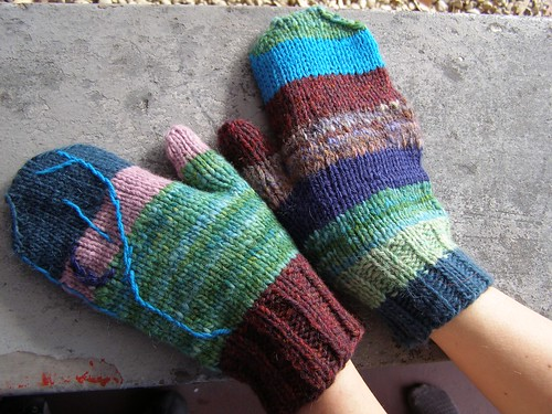 waning moon mitts
