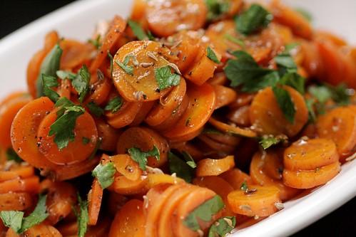 Carrot salad up close