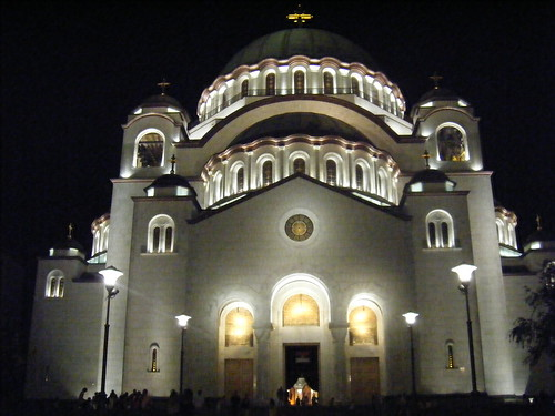 St. Savas Church At Night